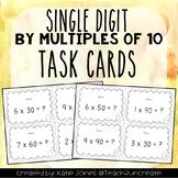Single Digit by Multiples of 10 - Multiplication 3.NBT.3 Task Cards {set of 28}