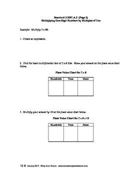 3.NBT.A.3 Multiplying One-Digit Numbers by Multiples of Ten