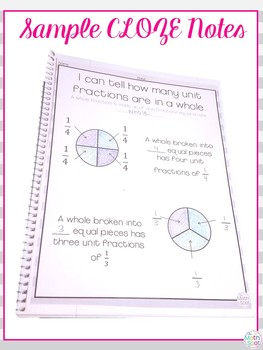 Naming Fractions Interactive Notebook
