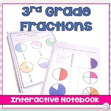 3rd Grade Fractions : Interactive Notebook