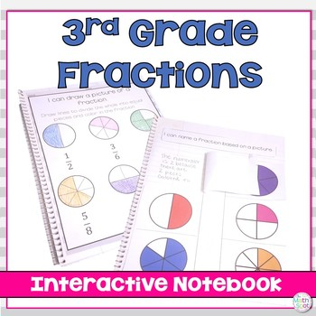 3rd Grade Fractions : Interactive Notebook
