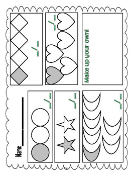 3.NF.1 Third Grade Common Core Worksheets, Activity, and Poster