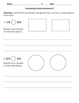 3NF.3 Comparing Fractions Handout