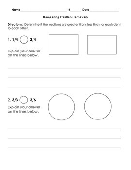 3NF.3 Comparing Fractions with Same Numerator or Same Denominator Bundle