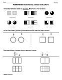 (3.NF.3)Fractions Part 1 3rd Grade Common Core Math Worksheets 3rd 9 Weeks