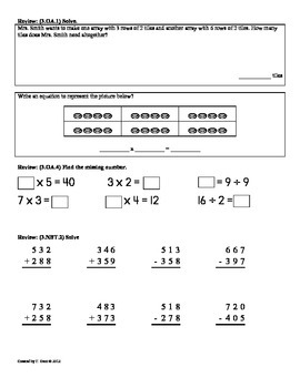 (3.NF.3)Fractions Part 2: 3rd Grade Common Core Math Worksheets 3rd 9 Weeks