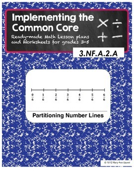 3.NF.A.2 and 3.NF.A.2.A Partitioning Number Lines
