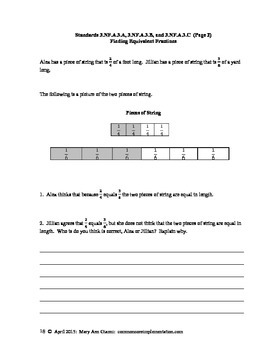 3.NF.A.3.A, 3.NF.A.3.B, and 3.NF.A.3.C Finding Equivalent Fractions