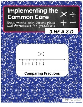 3.NF.A.3 and 3.NF.A.3.D Comparing Fractions