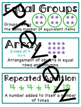3.OA CCSS Math Vocabulary - Word Wall