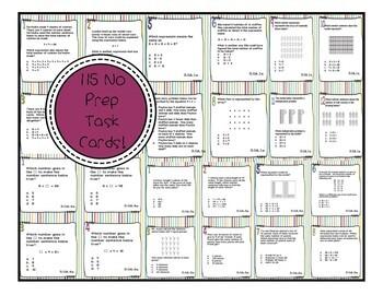 3OA CCSS Standard Based Task Card Bundle - Includes All 9 OA Standards