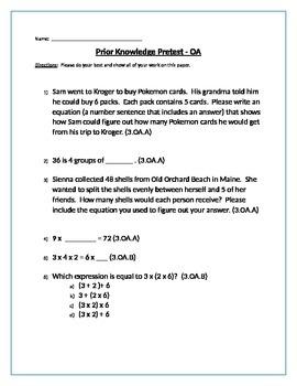 3.OA Prior Knowledge Pretest