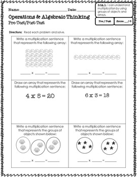 [3.OA.1] Common Core Math Series {Multiplying With Arrays & Groups}