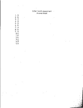 3.OA.1 Math Assessment