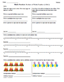 Math Plans & Sheets (3.OA.1) Products -3rd Grade Common Core 1st 9 Weeks