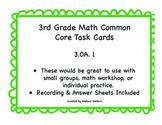 3.OA.1 Task Cards