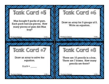 3.OA.1 Task Cards {FREEBIE}