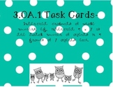 3.OA.1 Tasks cards with arrays, word problems, and multiplication