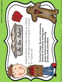 3.OA.1 Third Grade Common Core Worksheets, Activity, and Poster