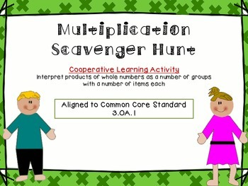 3.OA.1{Cooperative Learning}Multiplication Scavenger Hunt (Math Around the Room)