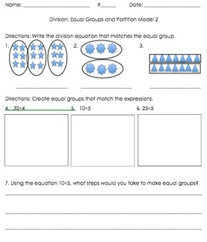 3OA.2 3OA.3 Division Strategies and Word Problem Bundle
