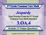 3.OA.4 Jeopardy Game 3rd Grade Common Core Math - Determine Unknown Whole Number