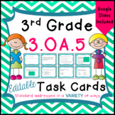 3.OA.5 Task Cards - Properties of Operations - Distance Learning - Google Class