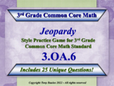 3.OA.6 Jeopardy Game 3rd Grade Math - Division As An Unknown-Factor Problem