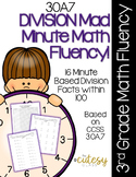 3OA7 Mad Minute Math Fluency - Division