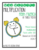 3OA7 Mad Minute Math Fluency - Multiplication