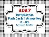 3.OA.7 Multiplication Flashcards for Fluency Practice