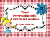 3.OA.7  Timed Multiplication Fluency Drills 0s-12s