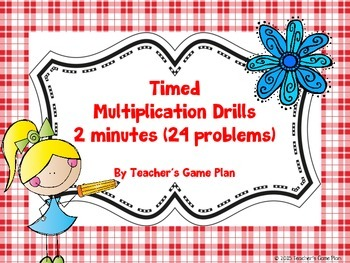 3.OA.7  Timed Multiplication Fluency Drills 0s-12s
