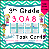 3.OA.8 Task Cards for Third Grade - Multiple Step Word Pro