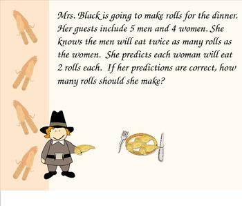 3.OA.8 Thanksgiving Problem Solving