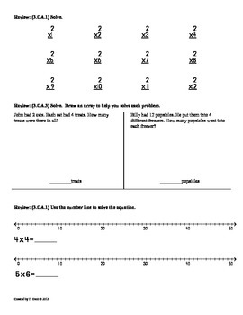 (3.OA.8)2-Step Word Problems(add&subtract) 3rd Grade Math Worksheets 2nd 9 Weeks