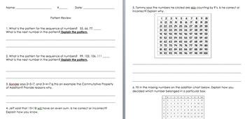 3OA.9 Addition Patterns Bundle