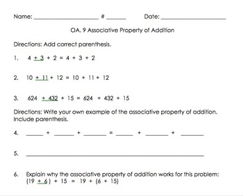 3OA.9 Associative Property of Addition