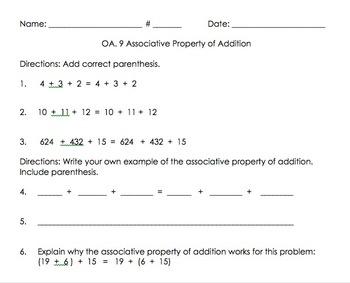 3OA.9 Associative Property of Addition
