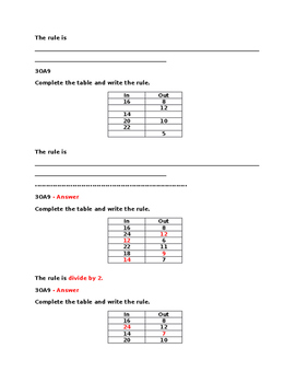 3OA9 Pre and Post Assessment Bank