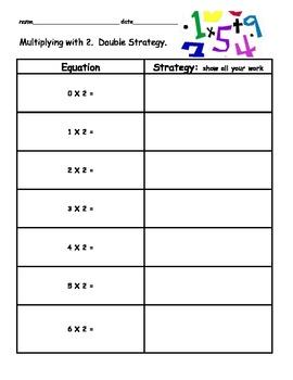 3.OA.A.1 Doubling Strategy Multiplication