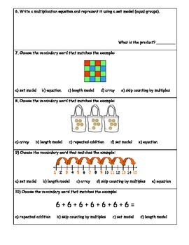 3.OA.A.1 and 3.OA.A.2 Multiplication and Division Building Concepts