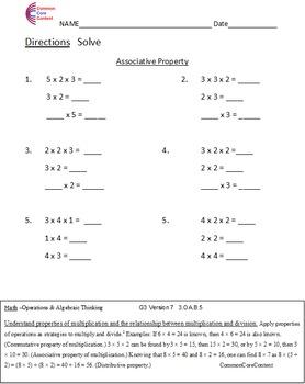 3.OA.B.5, 3.OA.B.6, 3.OA.C.7 Common Core Third Grade Multiplication & Division