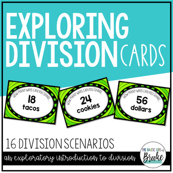 """3.OA.B.5, 3.OA.C.7 - """"How Many Ways Can You Share..."""" Exploring Division Cards"""