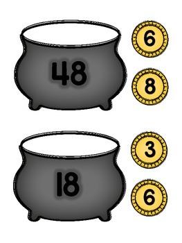 3.OA.B.5, 3.OA.C.7 - Pot O Golden Number Bonds! Multiplication & Division Center