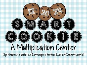 3.OA.B.5, 3.OA.C.7 - Smart Cookie Clip Cards! Math Center