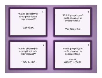 3.OA.B.5 Properties of Multiplication Task Cards