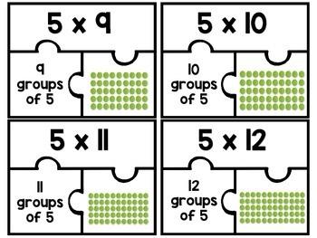 3.OA.C.7 - Multiplication Puzzles: Five as a Factor!