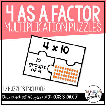 3.OA.C.7 - Multiplication Puzzles: Four as a Factor!