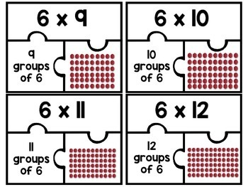 3.OA.C.7 - Multiplication Puzzles: Six as a Factor!